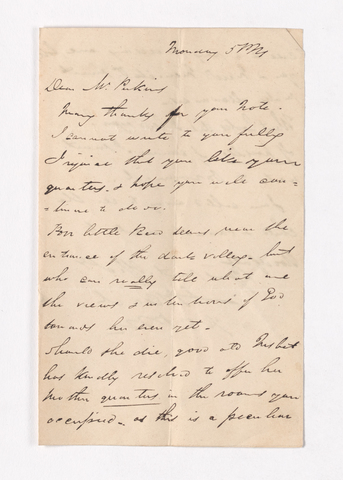 James Pringle Riach letter to Justin Perkins