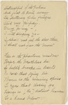 "Transcription of Emily Dickinson's ""Distrustful of the gentian"""