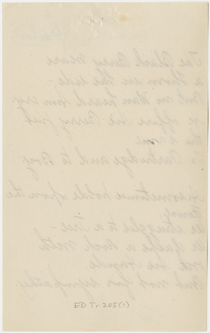 Mabel Loomis Todd transcript of poem