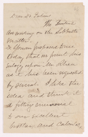 Benjamin Labaree letter to Justin Perkins, 1866 May 2