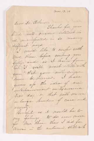 Mary Susan Rice letter to Justin Perkins, 1866 March 19