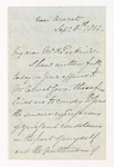 William Frederic Williams letter to Justin Perkins, 1852 September 8