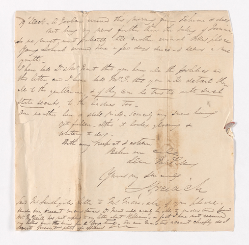 James Pringle Riach letter to Justin Perkins, December 19 to 22