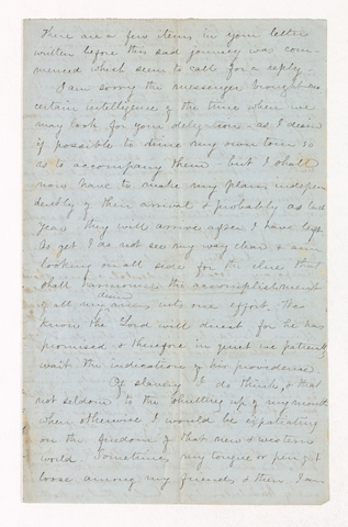 William Frederic Williams letter to Justin Perkins