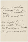 "Transcription of Emily Dickinson's ""The service without hope"""