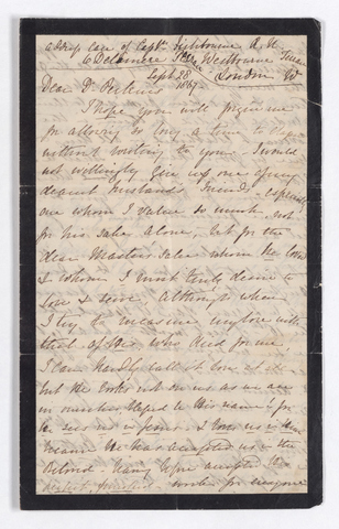 Sophia Riach letter to Justin Perkins, 1867 September 28 to 1868 January 31