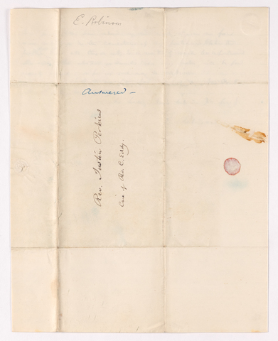 Edward Robinson letter to Justin Perkins, 1842 September 5