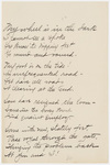 "Transcription of Emily Dickinson's ""My wheel is in the dark"""