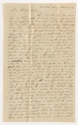 Henry Smith letter to Justin Perkins, 1846 February 24 to March 20