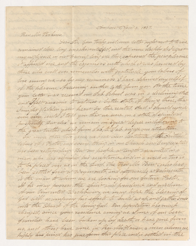 Hannah Shepard letter to Justin Perkins, 1837 April 9