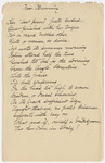 "Transcription of Emily Dickinson's ""Her 'last poems' poets ended"""