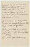 "Transcription of Emily Dickinson's ""I cannot buy it, 'tis not sold"""