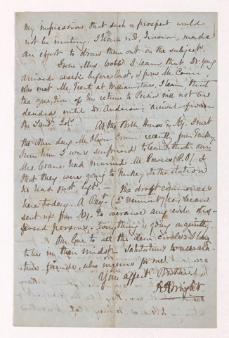 Austin Hazen Wright letter to Justin Perkins, 1863 September 4