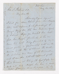 Samuel Audley Rhea letter to Justin Perkins, 1863 May 20