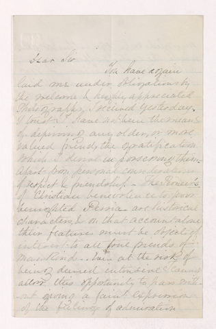 Frank N. H. Young letter to Justin Perkins