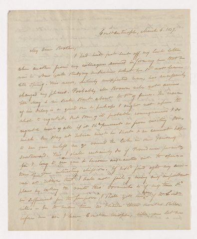 Horatio Southgate letter to Justin Perkins, 1837 March 6