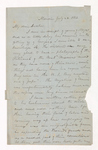 William Frederic Williams letter to Justin Perkins, 1863 July 24