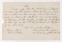 Copy of James L. Merrick and Emma Taylor marriage certificate, 1839 March 11