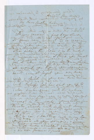 William Seymour Tyler letter to Justin Perkins, 1863 May 15