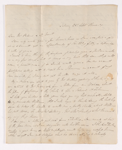 James Pringle Riach letter to Justin Perkins and Asahel Grant, September 22