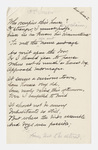 "Transcription of Emily Dickinson's ""Who occupies this house?"""