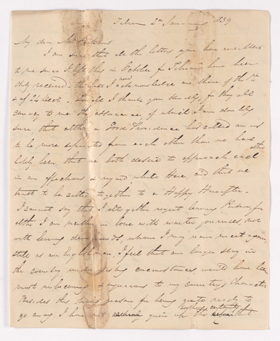 James Pringle Riach letter to Justin Perkins, 1839 January 2
