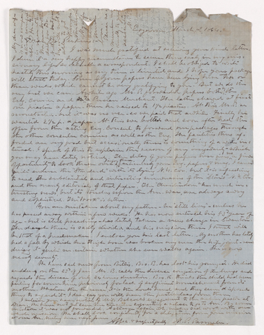 Moses Payson Parmelee letter to Justin Perkins, 1864 March 2