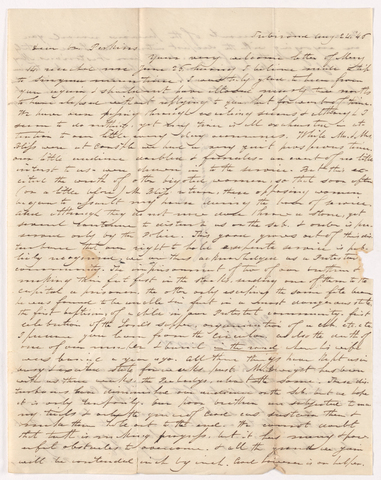 Philander Oliver Powers letter to Justin Perkins, 1846 August 6