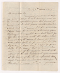 Alexander Nisbet letter to Justin Perkins, 1837 March 5