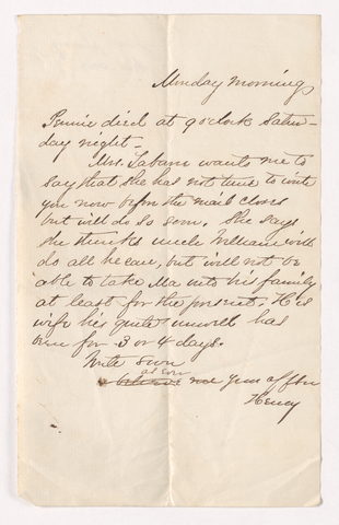 Henry Martyn Perkins letter to Justin Perkins