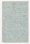 Samuel Audley Rhea letter to Justin Perkins, 1854 September 9