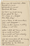 "Transcription of Emily Dickinson's ""Bloom upon the mountain stated"""