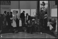 Photographs of the Black Men of Amherst reception, 1976 May 7