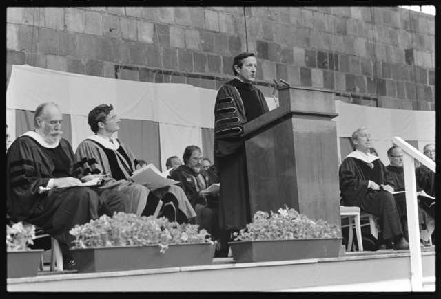 Photographs of the 154th Commencement ceremony, 1975 June 6