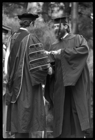 Photographs of the 155th Commencement ceremony, 1976 June 6