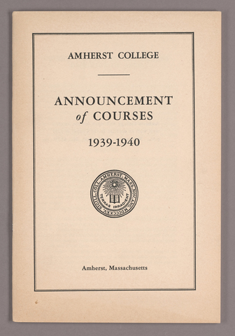 Announcement of courses 1939-1940