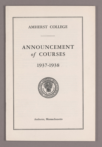 Announcement of courses 1937-1938