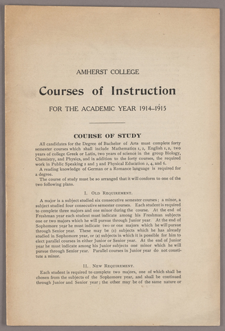 Courses of instruction for the academic year 1914-1915