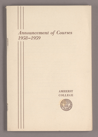 Announcement of courses 1958-1959