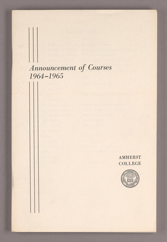 Announcement of courses 1964-1965