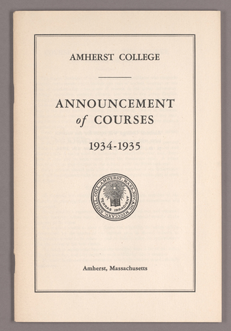 Announcement of courses 1934-1935