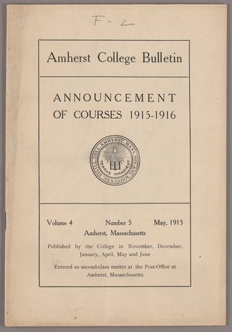 Amherst College bulletin