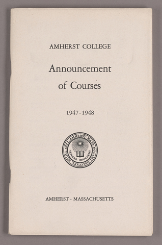 Announcement of courses 1947-1948