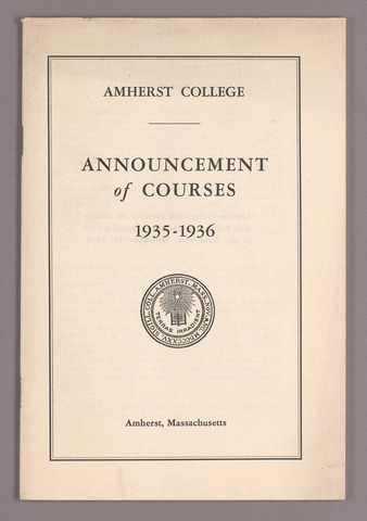 Announcement of courses 1935-1936