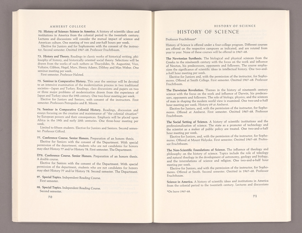 Announcement of courses 1967-1968