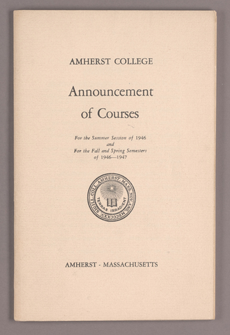 Announcement of courses for the summer session of 1946 and for the fall and spring semesters of 1946-1947