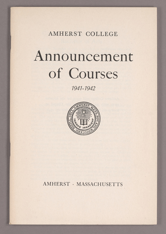 Announcement of courses 1941-1942