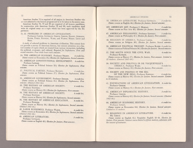 Announcement of courses 1965-1966
