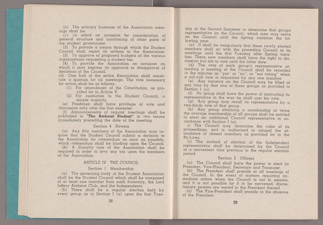Student hand-book of Amherst College, 1942-1943