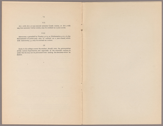 Announcement of the courses of instruction for the academic year 1910-1911